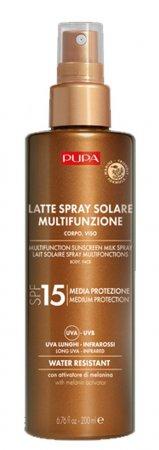 Pupa Multifunction Sunscreen, nawilżające mleczko przeciwsłoneczne SPF15, 200ml