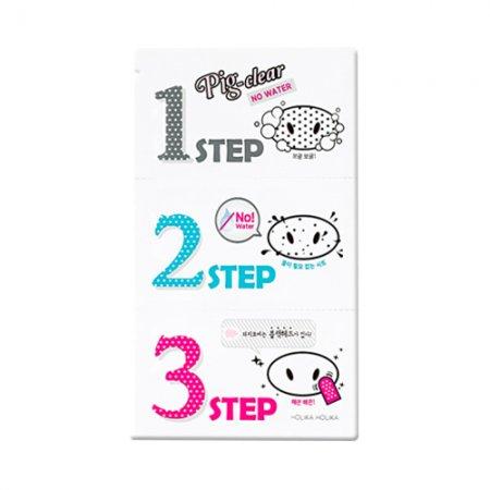 Holika Holika, Pig Clear 3step Kit No Water, plastry na nos