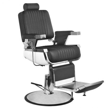 Fotel barberski Gabbiano Royal II, czarny