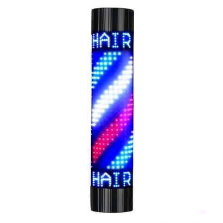 Słupek barberski, plafon podświetlany Activeshop Barber Shop LED Roy, duży