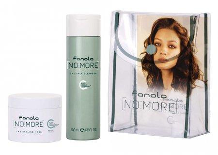 Fanola No more, podróżny zestaw do włosów zniszczonych, szampon 100ml + maska 50ml