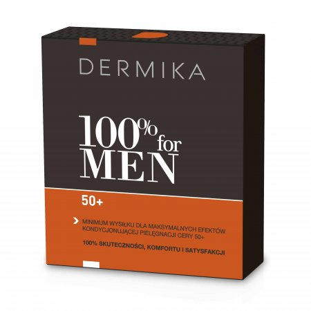 Dermika, zestaw 100% for Men 50+, krem 50ml + balsam po goleniu 40ml