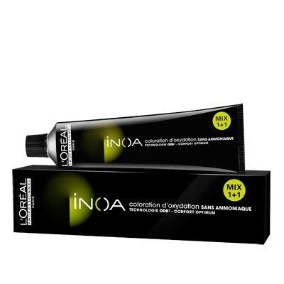 Loreal Inoa, farba do włosów w kremie bez amoniaku, 8, 60g - uszkodzone opakowanie