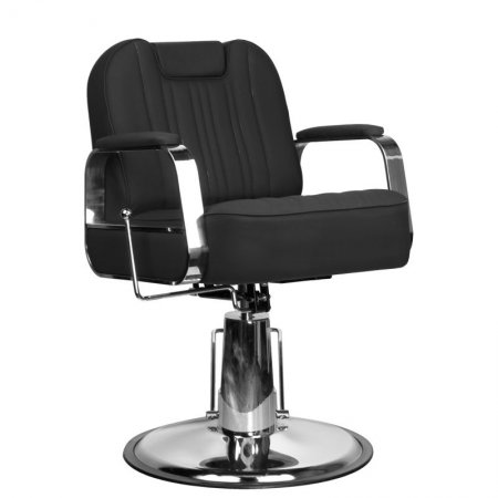 Fotel barberski Gabbiano Rufo, czarny