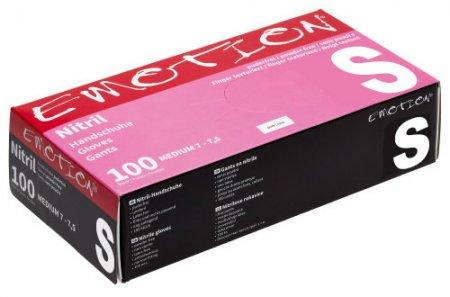 Efalock Emotion, nitrylowe rękawiczki bez pudru, rozmiar S, różowe, 100 szt.