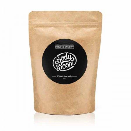 Peeling kawowy For Alpha Men BodyBoom For Men, 200g - krótka data ważności (8.2019)
