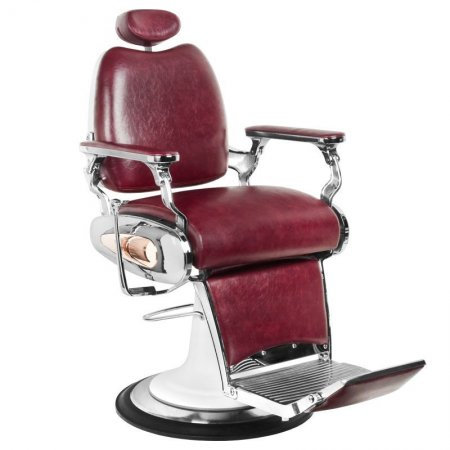 Fotel barberski Gabbiano Moto Style, bordowy