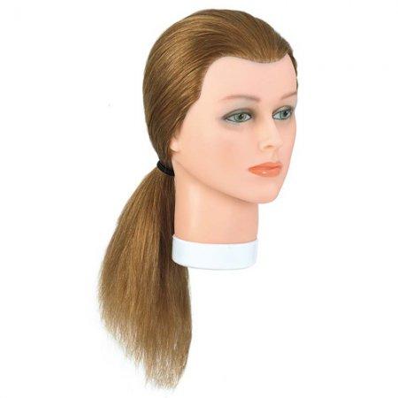 Bergmann główka treningowa Junior, blond, 100% naturalne włosy, 30-35cm