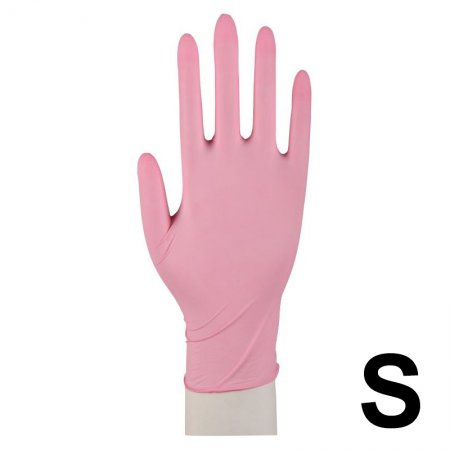 Abena, rękawiczki nitrylowe bezpudrowe, rozmiar S, różowe, 100 sztuk