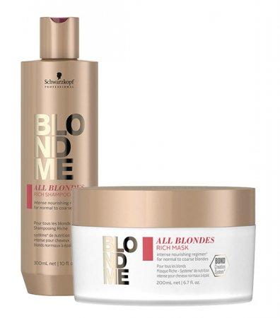 Schwarzkopf BlondMe All Blondes, zestaw: szampon + maska, 300ml + 200ml