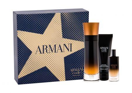 Giorgio Armani Code Profumo, zestaw: Edp 110 ml + Edp 15 ml + Żel pod prysznic 75 ml (M)