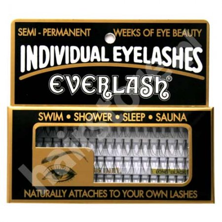 Everlash, kępki rzęs, długie, czarne, 80 sztuk