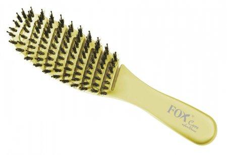 Fox Care Nylon&Boar, profesjonalna mini szczotka do włosów, Light Green