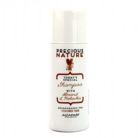 Alfaparf Precious Nature Mini, szampon do włosów farbowanych, 60ml