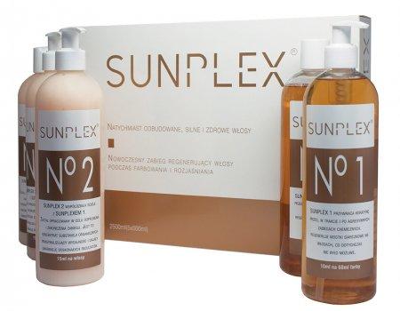 Sunplex, kuracja regenerująca podczas koloryzacji, zestaw, 5x500ml
