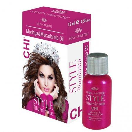 CHI Miss Universe, moringa&macadamia oil, olejek bez spłukiwania, 15ml