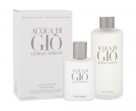 Giorgio Armani Acqua di Gio Pour Homme, zestaw: Edt 50 ml + Edt 200 ml (M)