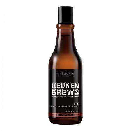 Redken Brews, szampon dla mężczyzn 3w1, 300ml