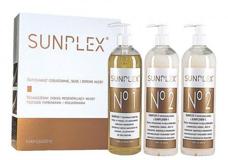 Sunplex, kuracja regenerująca podczas koloryzacji, zestaw, 3x500ml
