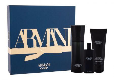 Giorgio Armani Armani Code Pour Homme, zestaw: Edt 75 ml + Edt 15 ml + Żel pod prysznic 75 ml (M)