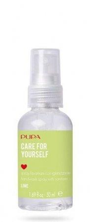 Pupa Care for yourself, spray antybakteryjny, limonka, 72% alkoholu, 50ml