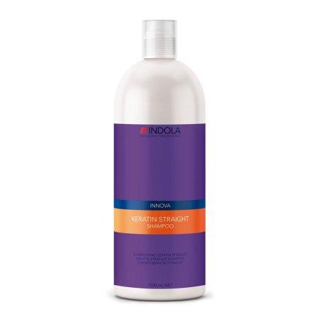 Indola Keratin Straight, keratynowy szampon prostujący, 1500ml