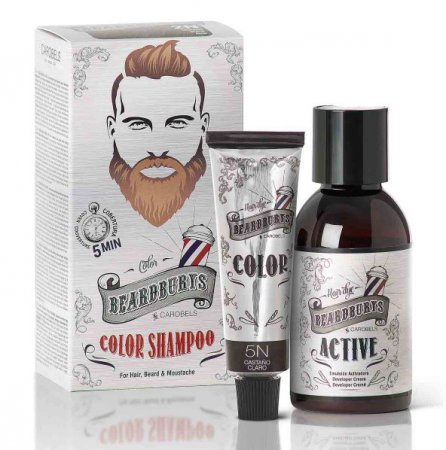 Beardburys, szampon koloryzujący 5N, jasny brąz