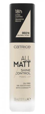 Catrice All Matt Shine Control, trwały podkład matujący 002 N, 30ml