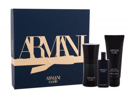 Giorgio Armani Armani Code Pour Homme, zestaw: Edt 50 ml + Żel pod prysznic 75 ml + Edt 15 ml (M)