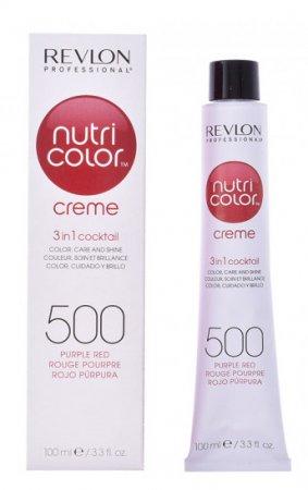 Revlon Nutri Color Creme, maska koloryzująca bez amoniaku 500-Purple Red, tuba 100ml