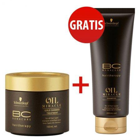 Schwarzkopf BC Oil Miracle, szampon + maska z olejkiem arganowym, 2 za 1