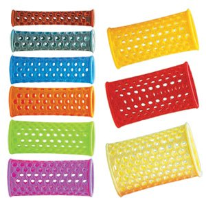 Profesjonalne wałki do włosów, plastikowe z dziurkami Efalock Super FL, 10 szt, 25mm, zielone - rozerwane opakowanie