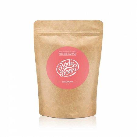 BodyBoom, peeling kawowy do ciała, Zmysłowa Truskawka, 100g
