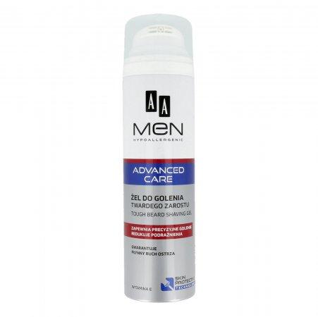AA MEN Advanced Care, żel do golenia twardego zarostu, 200ml