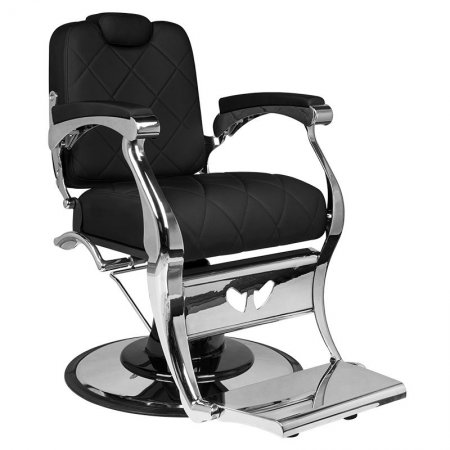 Fotel barberski Gabbiano Dario, czarny