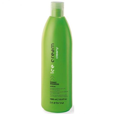 Inebrya Cleany, szampon przeciwłupieżowy z ekstraktem z cytryny i pomarańczy, 1000 ml