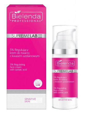 Bielenda Professional Supremelab, Sensitive Skin, krem do twarzy z kwasem azelainowym, 50ml