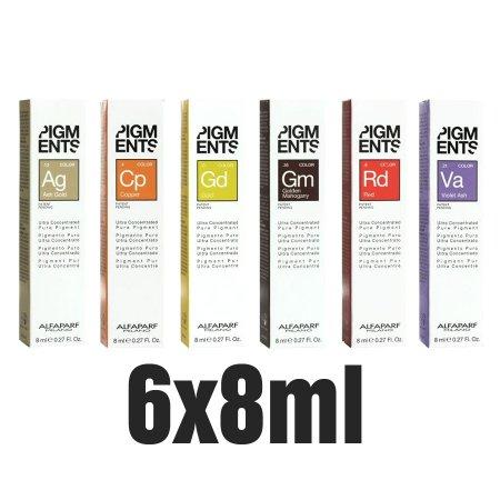 Alfaparf Pigments, skoncentrowany pigment do włosów, 6x8ml