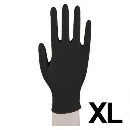 Abena, rękawiczki nitrylowe bezpudrowe, rozmiar XL, czarne, 100 sztuk