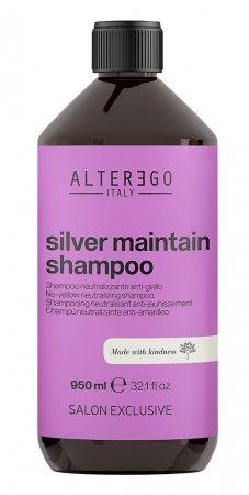 Alter Ego Silver Maintain, szampon neutralizujący żółte odcienie, 950ml