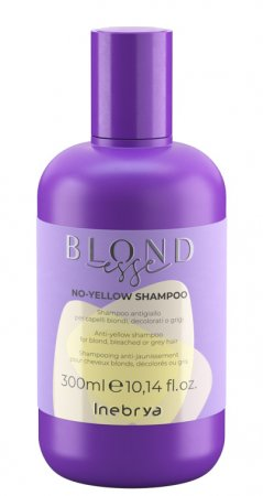 Inebrya Blondesse No Yellow, szampon do włosów siwych i rozjaśnianych, 300ml