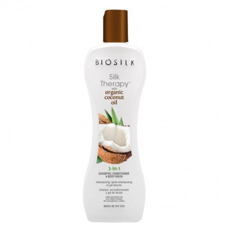 Biosilk Organic Coconut 3w1: szampon, odżywka i płyn do mycia ciała, 167ml