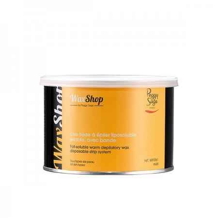 Peggy Sage, wosk do depilacji rozpuszczalny w letniej temperaturze, miodowy, 400ml, ref. 601061