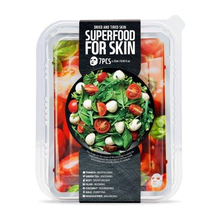Superfood for Skin, zestaw maseczek nawilżająco-łagodzący