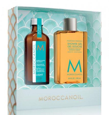 Moroccanoil, zestaw ucieczka od codzienności: kuracja Light + żel pod prysznic