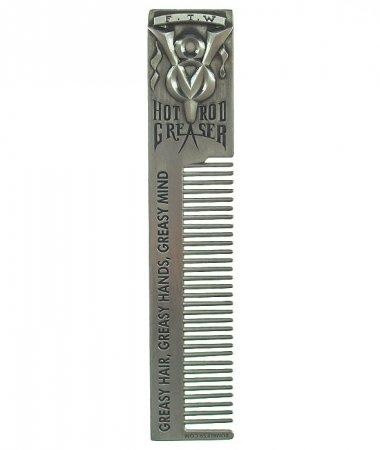 Schmiere Hotrod Greaser Comb, metalowy grzebień do włosów
