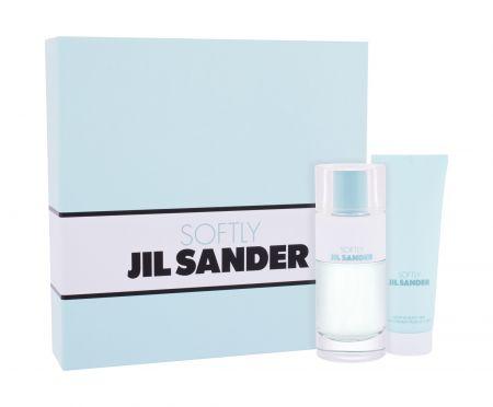 Jil Sander Softly, zestaw: EDT 80 ml + mleczko do ciała 75 ml (W)