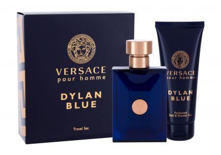 Versace Pour Homme Dylan Blue, zestaw: Edt 100 ml + Żel pod prysznic 100 ml (M)