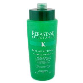 Kerastase Resistance Bain Age Recharge, szampon, kąpiel odbudowująca, 1000ml