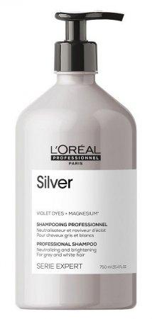 Loreal Silver, szampon do włosów rozjaśnionych lub siwych, 750ml